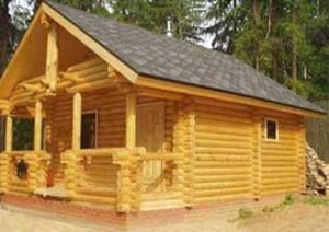 Баня-дом из клееного бруса