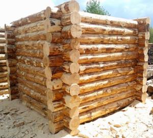Как строится сруб бани