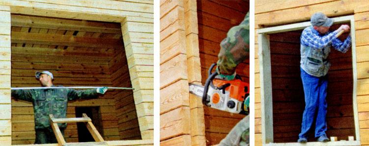 Как ставить окна в деревянном доме