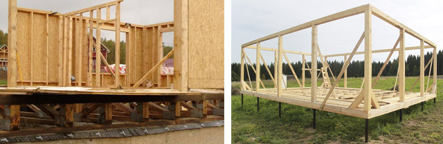 Фундамент для каркасно-щитового дома