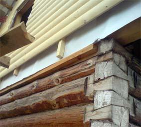 Монтаж блокхауса на фасад дома