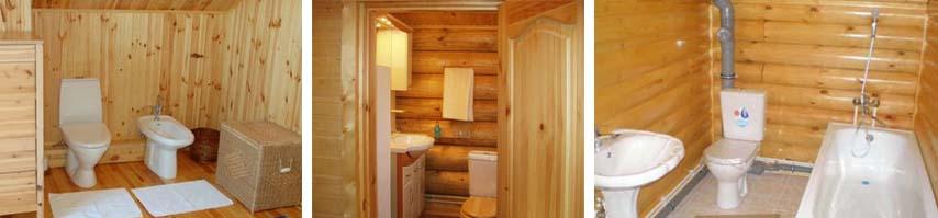 Фото санузла в деревянном доме