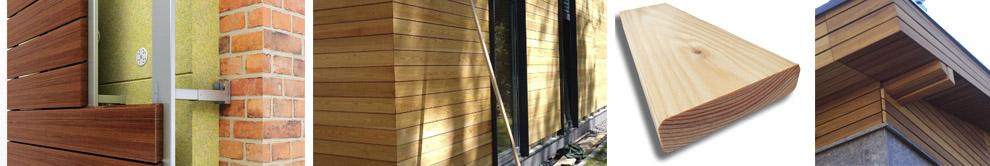 Отделка планкеном фасада дома