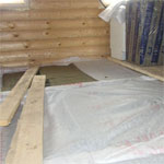 пароизоляция полов деревянного дома