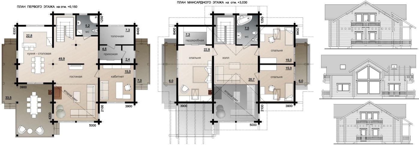 План проект финского дома
