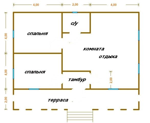 Планировка жилища 6х9 м