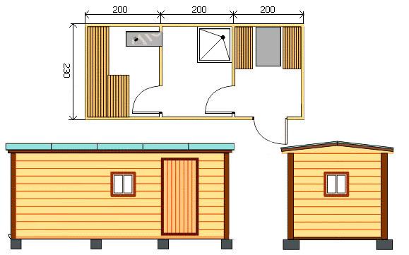 Проект сооружения 600x230 см