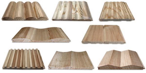 Разные виды деревянной отделки
