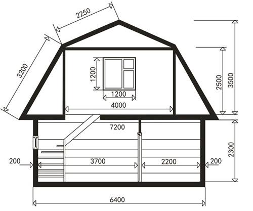 Схема деревянной бани