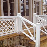 Деревянный забор для террасы