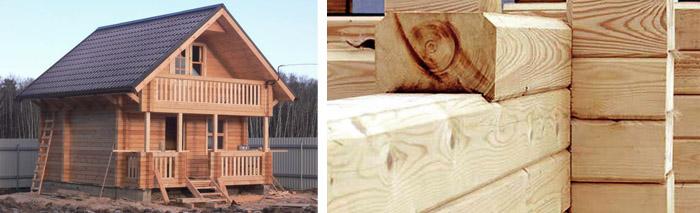 Дома из дерева под усадку
