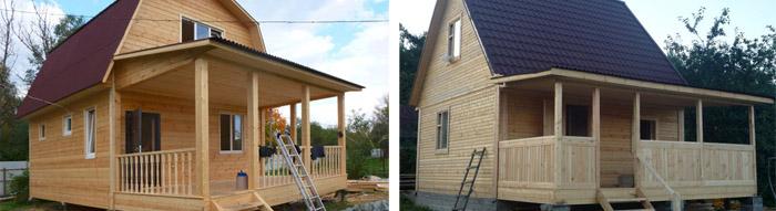 Дом из дерева 6х6 м