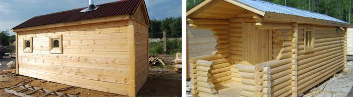 Переносная деревянная баня