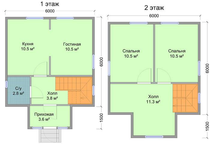 План загородного домика