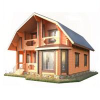 План одноэтажного брусового дома 10х10
