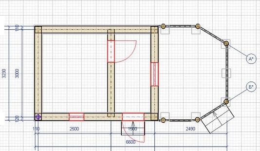 Схема бани 3х4