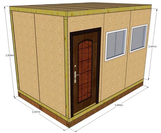 Схема бытовой постройки