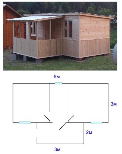 Вариант планировки домика