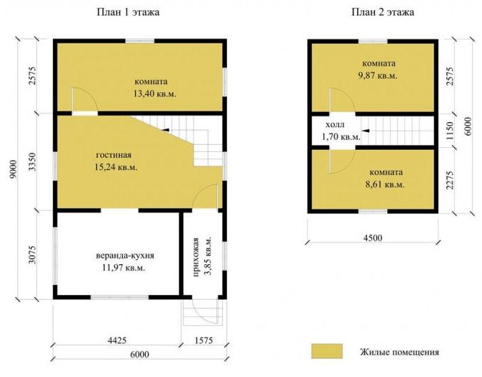 План дома эконом-класса