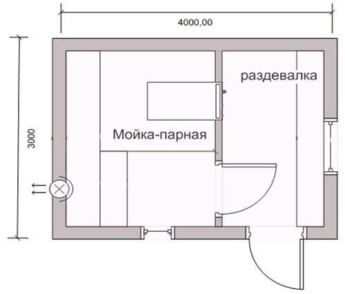 Схема баньки 3х4