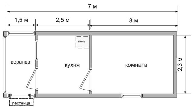 Схема бытовки