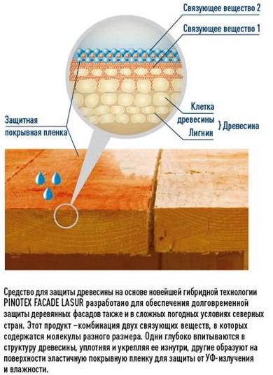 Принцип действия Pinotex Facade Lasur