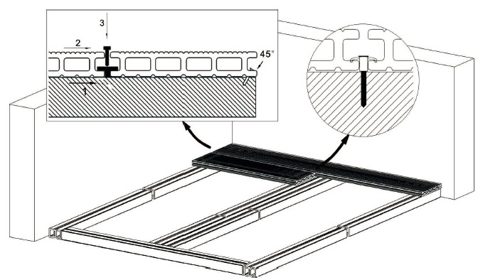 Схема монтажа террасной доски