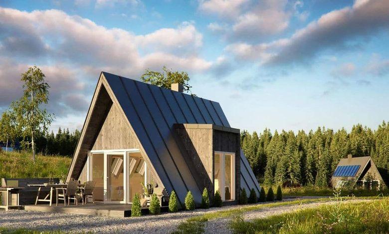 А образный дом: проект
